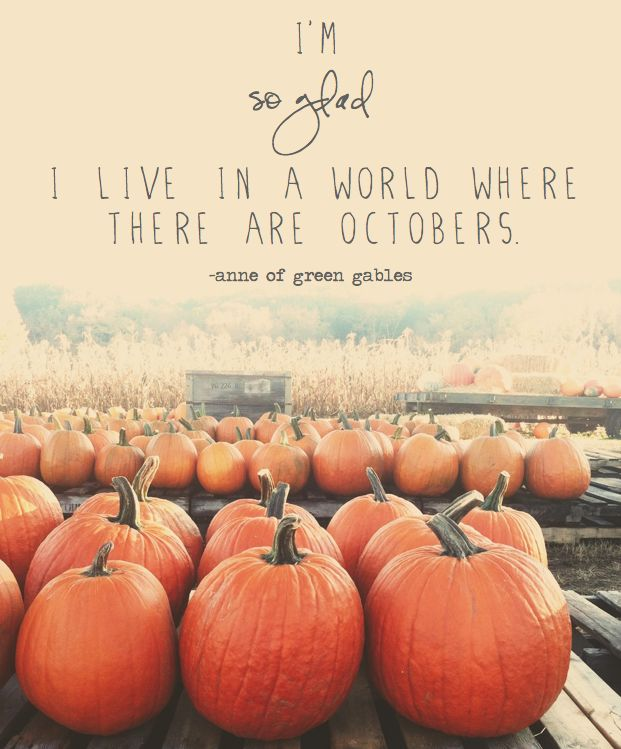 live in a world where there are octobers